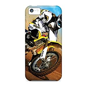 Anti-scratch And Shatterproof Motocross Phone Case For Iphone 5c/ High Quality Tpu Case