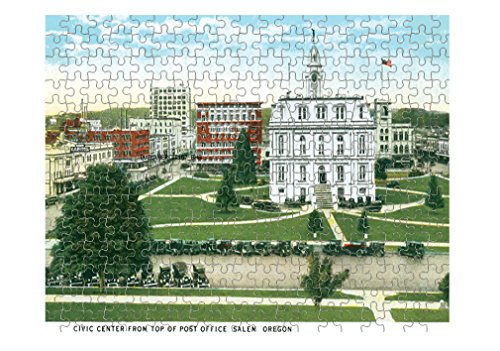 Civic Center From Post Office, Salem , Or Jigsaw Puzzle Print 252 - Salem The Center
