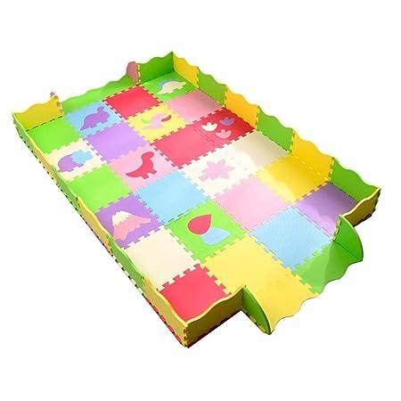 HLMIN Alfombras Puzzle Niño pequeño Juego de niños Mat ...