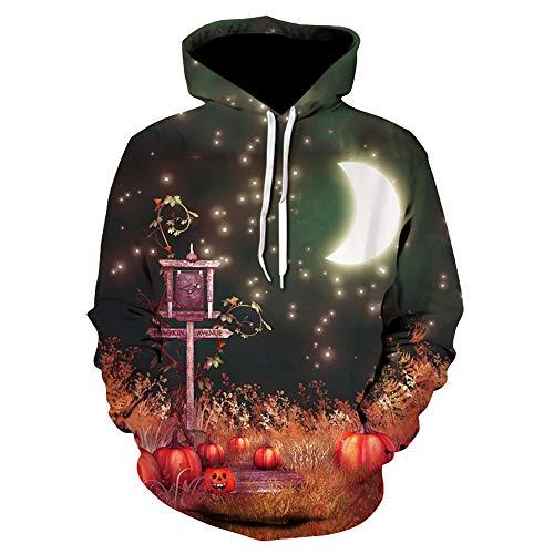 Toimoth Halloween Women Men Ghost 3D Printing Long Sleeve Hoodie Sweatshirt Pullover Top(MulticolorF,2XL) for $<!--$9.84-->