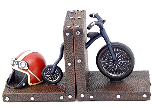 Decorative-Bookends-Bicycle-and-Helmet-Vintage-Kids-Bookends
