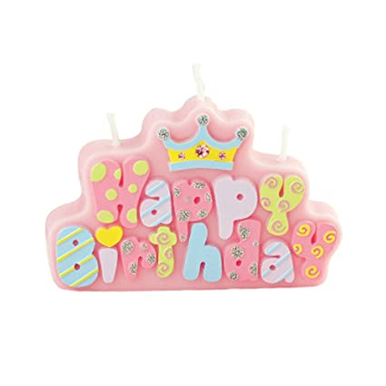 Creative Birthday Candle Letter Happy Smokeless For Party Supplies Pink