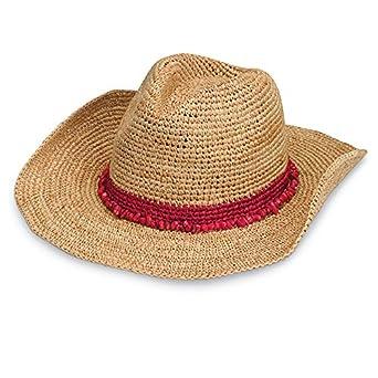 693706bf9 Wallaroo Hat Company Women's Tahiti Cowboy Sun Hat - Red - Raffia, Modern  Cowboy, Designed in Australia. at Amazon Women's Clothing store: