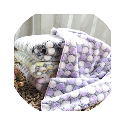 ZZmeet Soft Dog Bed Blanket Cute Pet Sleep Warm Paw Print Pet Dog Cat Mat Puppy Fleece Soft Blanket Beds Mat Cute Dotted cat Blanket,Pink,M 80 X 60 cm