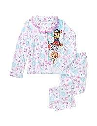 Paw Patrol Skye Girl's Size 6/6X Snowflake Glitter Flannel Pajama Set
