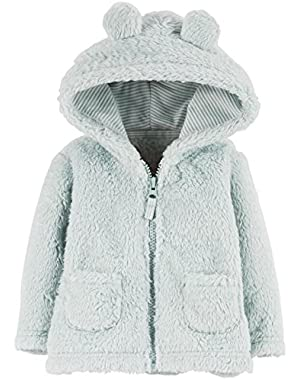 Carter's Baby Boys' Sherpa Jacket (Baby) - Light Blue - 9 Months
