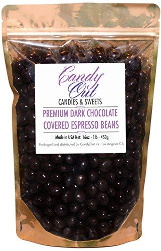 CandyOut - 1 Pound Premium Dark Chocolate Covered Coffee ...