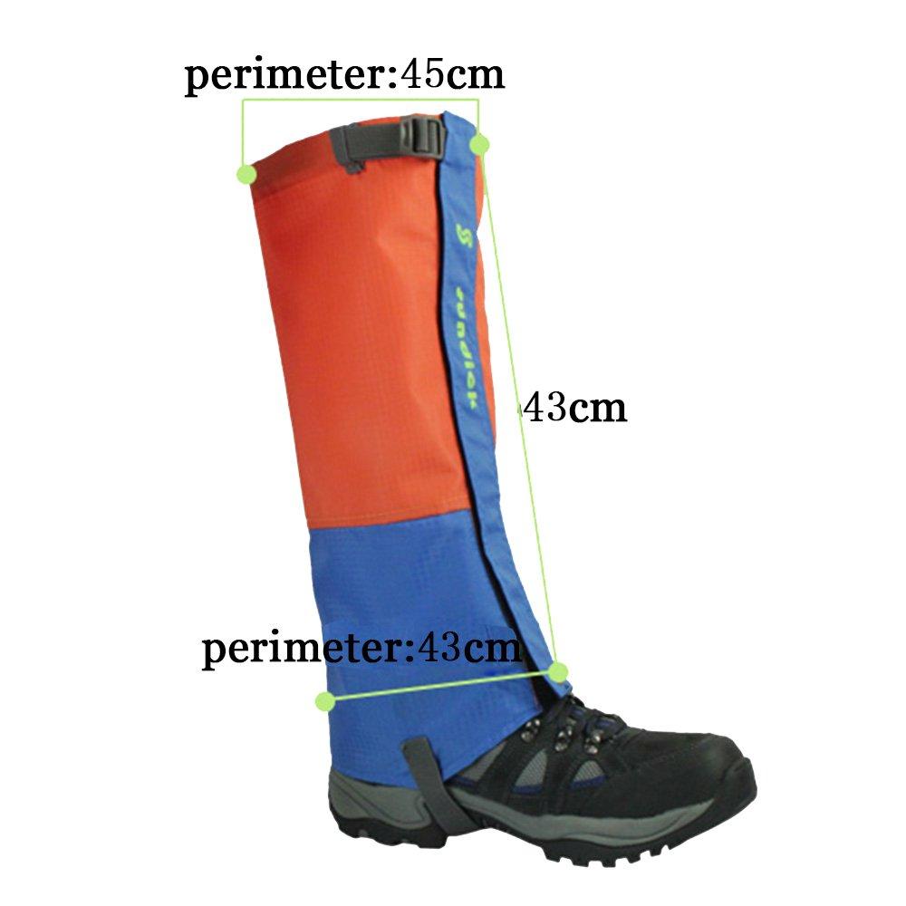 Polainas para Botas de Caminar Transpirables para C/ámping Caminar Tentock 1 Par de Polainas de Monta/ñismo a Prueba de Nieve