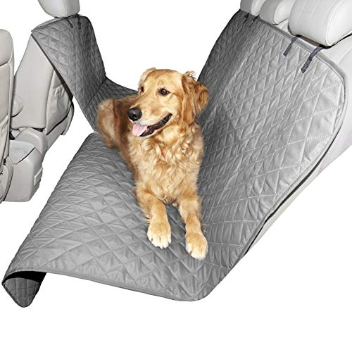Furhaven Pet – Water-Resistant Universal Car Backseat, Cargo, and Single Seat Cover, Deluxe Platform Bridge Backseat…
