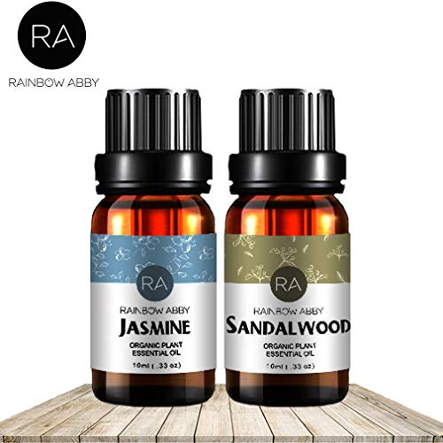 Jasmine Sandalwood Essential Oil Set Now Aromatherapy 100% Pure Therapeutic Grade Oils, 2/10ml - Pack of 2 (Dry Jasmine Oil)