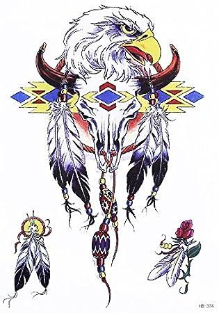 Tribal atrapasueños Muelle Toro Tattoo Multicolor Fake Tatuajes ...