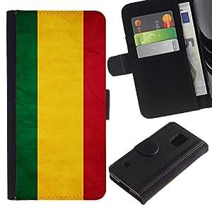 iKiki Tech / Cartera Funda Carcasa - Bolivia Grunge Flag - Samsung Galaxy S5 V SM-G900