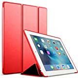 iPad 2/3/4 Case,GOOJODOQ Smart Cover With Magnetic Auto Sleep/Wake Function PU Leather Shockproof Silicon Soft TPU Folio Case For Apple iPad 2/3/4 in Red