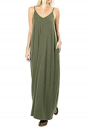 ef10366917 PRIMODA Boho Maxi Dresses Summer Casual Floral Beach Sundress Printed V Neck  Strappy Long Dresses with