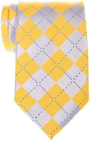 Retreez Classy Plaid Check Woven Microfiber Men's Tie - Various Colors