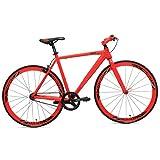 RapidCycle Evolve Fixed Gear Bike - Aluminum Flat bar (700CC, 48CM Frame, Red Color)