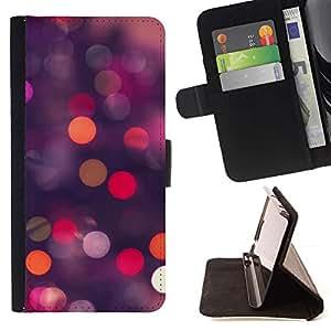 For Sony Xperia Z2 D6502 Case , Luces de Bling del brillo púrpura Noche Rosa- la tarjeta de Crédito Slots PU Funda de cuero Monedero caso cubierta de piel