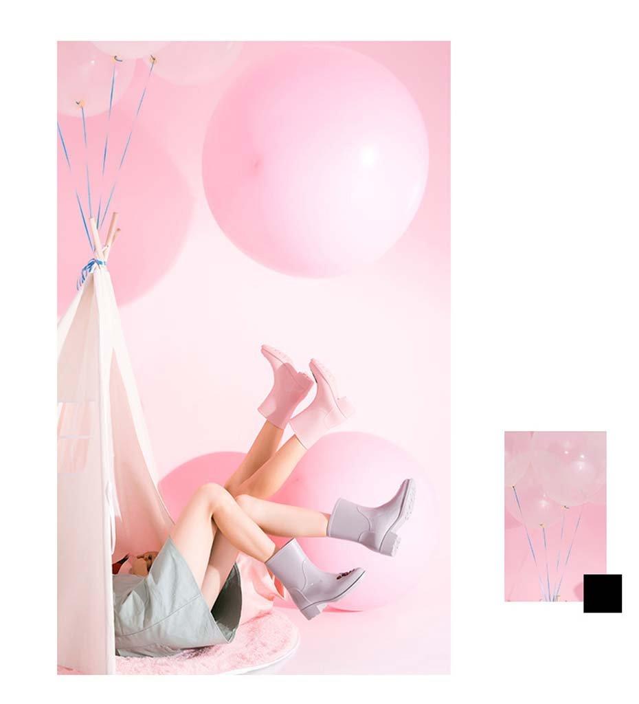 Handgemalte Handgemalte Handgemalte Regenstiefel Weiblicher Erwachsener Schlauchdamenwasser Beschuht Nette Regenstiefel Rutschfeste Wasserstiefel Pink 04f087