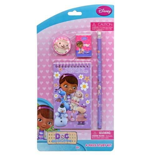 Doc McStuffins 4 Piece Personalized Study Kit/Stationery Set