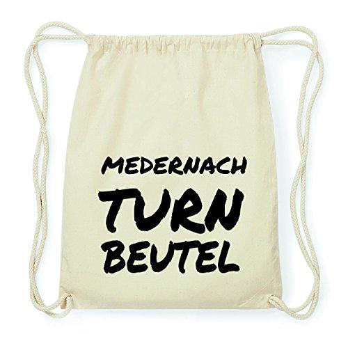JOllify MEDERNACH Hipster Turnbeutel Tasche Rucksack aus Baumwolle - Farbe: natur Design: Turnbeutel