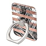 Striped Leaves Ring Phone Holder Stand Mounts for iPhone iPad, Samsung Other Smartphones