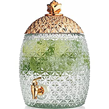 Amazon Com Glass Pineapple Large Drink Beverage