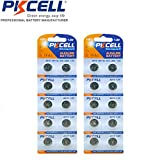 PKCELL 20 Pack AG10 LR1130 SR1130 LR54 189 389 Button Cell Watch Batteries