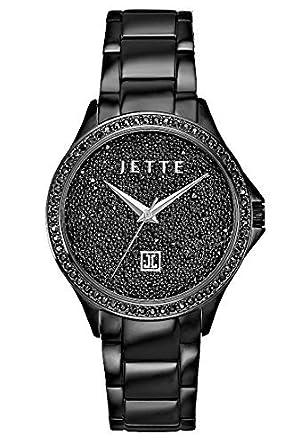 Armbanduhr damen schwarz  JETTE Time Damen-Armbanduhr Analog Quarz One Size, schwarz ...