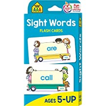 School Zone - Sight Words Flash Cards - Ages 5 and Up, Early Reading, Sight Reading, Sight Words, and More