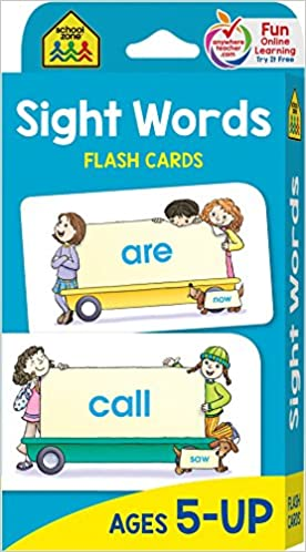 School Zone - Sight Words Flash Cards - Ages 5 and Up ...