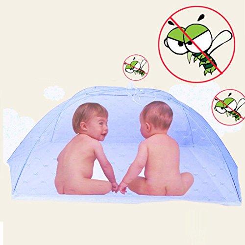 Clode® Baby bewegliches faltendes Moskito Ineinander greifen Haube Vorhang Netz Blau