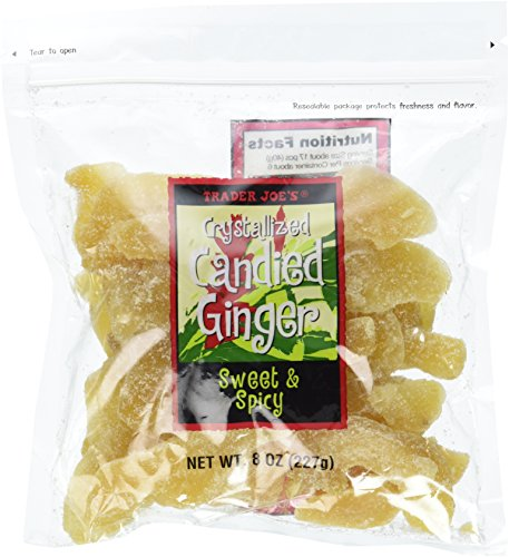 Trader Joe's Crystallized Candied Ginger, 8 Oz Bag (Pack of 2) Review