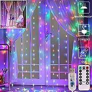Bedroom LED Curtain Lights, Christmas 300 Led Window Curtain Lights, Led Fairy Light Curtains for Wedding Part