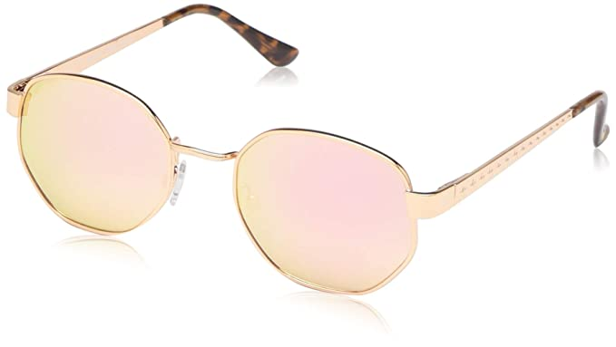 b846331c8 Image Unavailable. Image not available for. Color: Vince Camuto Women's  Vc822 Rgd Non-Polarized Iridium Round Sunglasses ...