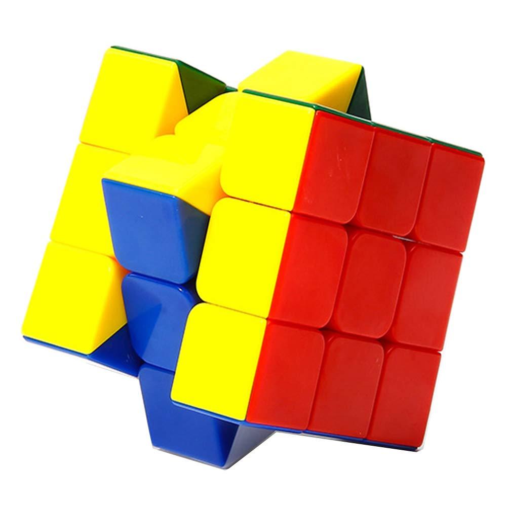 JIAAE Rainbow Puzzle Rubik's Cube 3X3 Cube Children Game Dedicated Smooth Rubik