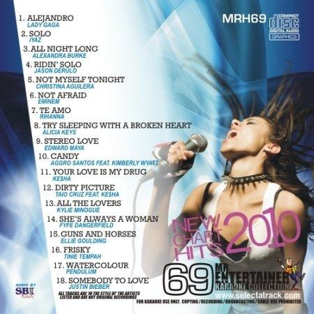 Mr Entertainer Karaoke Chart Hits Vol 69 - June 2010 (CD+G) MRH69 [Poly Sleeve]