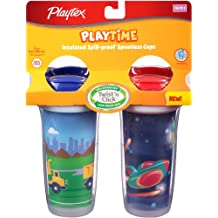 Playtex Playtime Insulated Spoutless Cups, 2 Count (Colors May Vary)