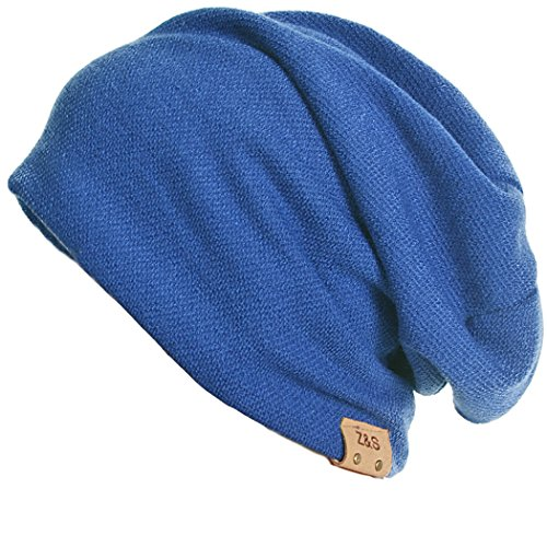 69e15f97502 Stylish Men Women Slouch Beanie Basic Skull Cap Designer B010 (Royalblue) -  Buy Online in Oman.