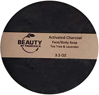 product image for Handmade Activated Charcoal Soap Bar – Face and Body Bar Soap- 100% Natural and Organic Ingredients – for Acne and Oily Skin - for Men, Women 4 OZ