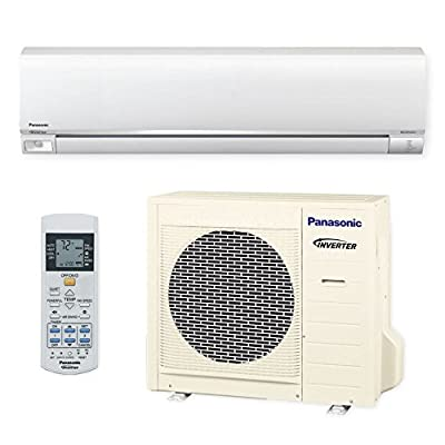 Panasonic Exterios XE 9,000 BTU Ductless Mini Split Air Conditioning and Heating System, Indoor and Outdoot Set with Wireless Remote (208/230V)