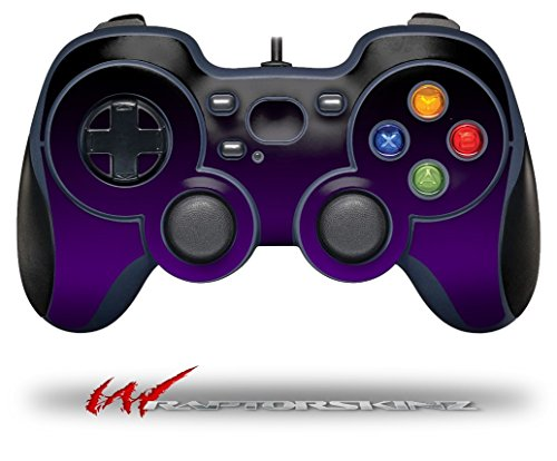 Smooth Fades Purple Black - Decal Style Skin fits Logitech F310 Gamepad Controller (CONTROLLER NOT INCLUDED)