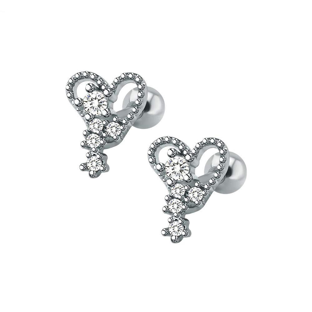 Red CZ Butterfuly Top 16G 316L Surgical Steel Tragus//Cartilage Barbell