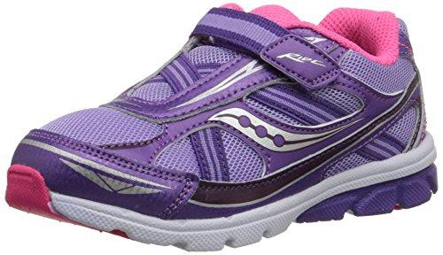 Saucony Girls' Baby Ride Sneaker (Toddler/Little Kid),Purple,6 M US Toddler