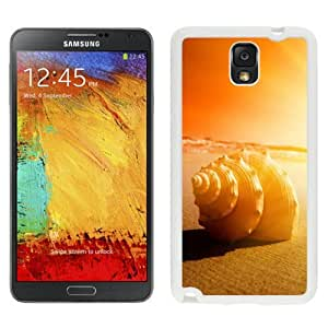 NEW Unique Custom Designed Samsung Galaxy Note 3 N900A N900V N900P N900T Phone Case With White Seashell Close Up Sunset_White Phone Case wangjiang maoyi by lolosakes