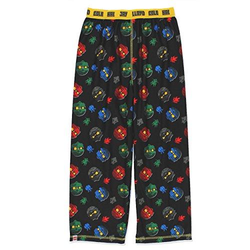 LEGO Ninjago Boys Pajama Pants (8, Black)