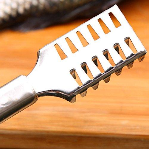 SmarketBuy Fish Scale Remover Cleaner Scaler Scraper Kitchen Peeler