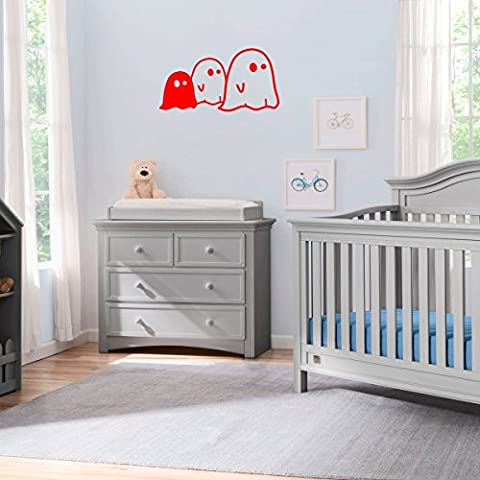(2x) Nursery Series 3 Little Ghosts Sticker for Cribs, Walls, Dressers, and More! (Red) - 1032 Red Kitchen