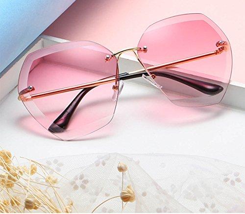 RoseRed Gran Sol Clásicas Las De Mujeres Brown De Gafas Protrction Montura De UV400 LZHA Sol Tamaño De Las Gafas De Sin S6aRW4