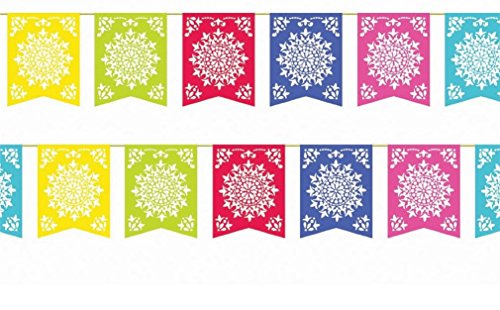 Mexican Party Flags Cinco De Mayo Cut Plastic Fiesta Banners Decorations 2 Sets