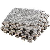 Dooboe Interlocking Foam Mats – Interlocking Carpet Tiles - Plush Carpet Area Rug - Carpet Interlocking Floor Tiles – Gray - Non-Toxic, Anti-Fatigue, Premium Puzzle Floor Mat